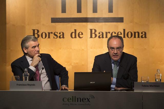 Rueda de prensa sobre la salida a bolsa de Cellnex Telecom