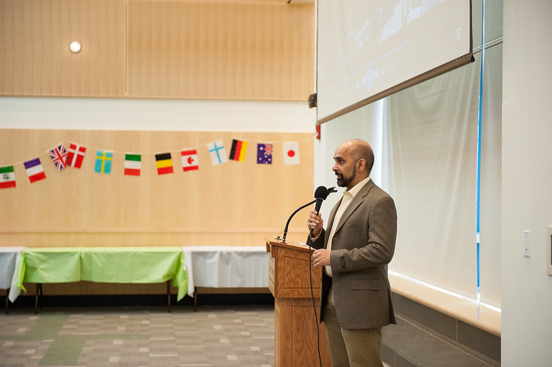 Professor Sab speaking at the 2015 Multicultural Gala