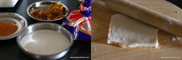 bread-dosa rolls