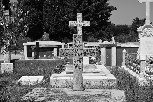 old friedhof cemetery blackwhite cross july croatia schwarzweiss kroatien 2016 nikond700