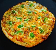 Green Pepper & Shrimp Pizza