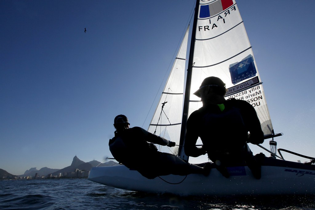 Test-Event Rio 2015 - Billy Besson Marie Riou_Copyright C. Launay-FFVoile
