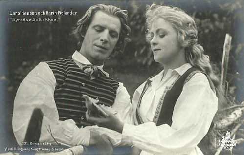 Lars Hanson and Karin Molander in Synnöve Solbakken