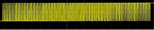 sawtooth wave at 100Hz without filter