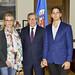 Secretary General Meets with Venezuelan Ana Julia Jatar and Braulio Miguel Jatar