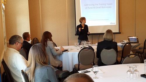 Center Director Maria Alvarez Stroud presents on the Center's Rural E-Commerce Program