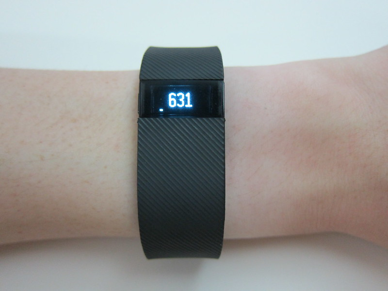 Fitbit Charge - Wearing - Steps Taken