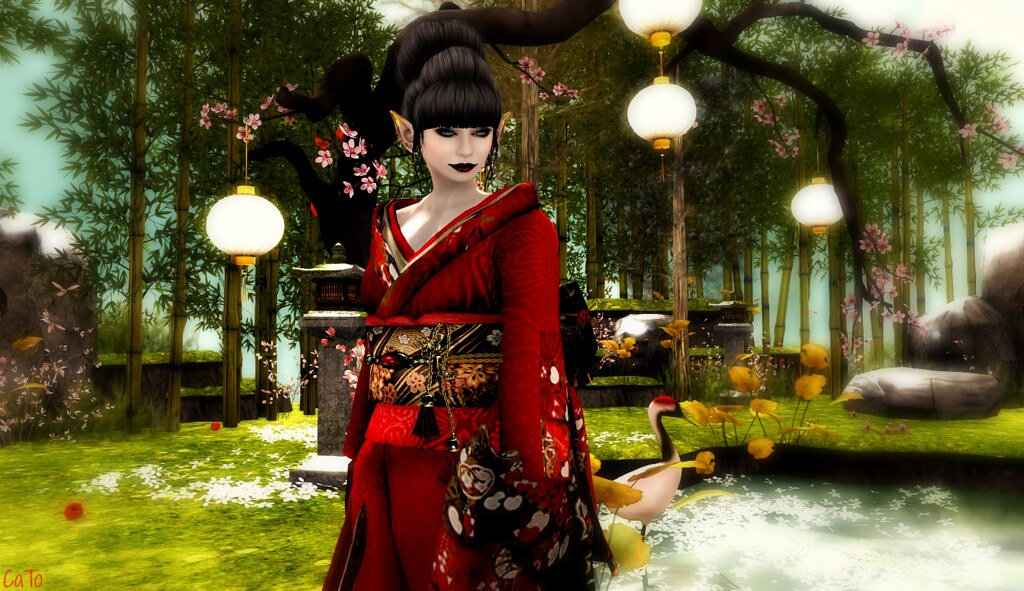 [Elysion]  Cherry Blossom Festival - I, all dressed up for tonight :)
