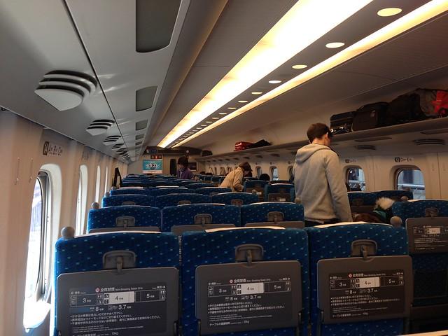 On the Shinkansen bullet train