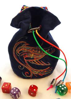 Rainbow Songbird  Dice Bag