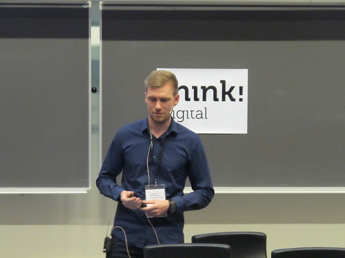 Jonas Priesum talking at UX Camp CPH 2015