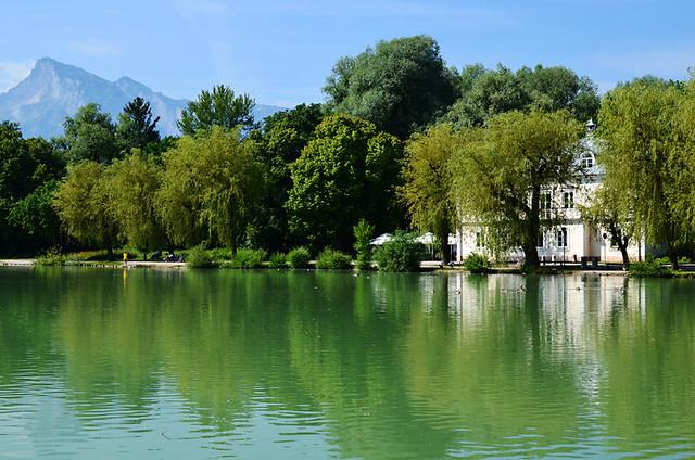 Leopoldskron Palace and Lake, Salzburg, Austria