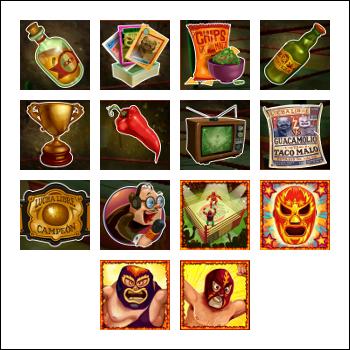 free Lucha Libre slot game symbols