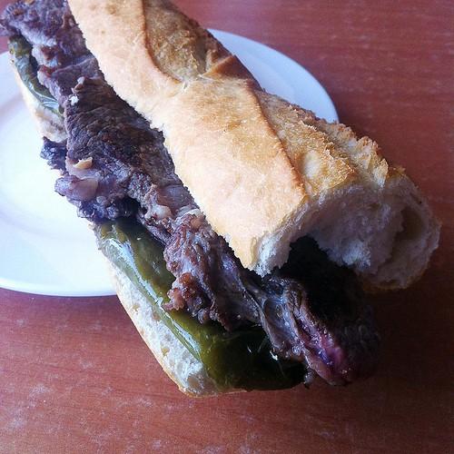 Steak sandwich en Castillejo de Inista. La estrella.