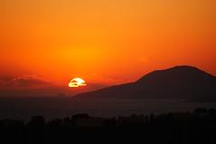 tramonto dal parco della rimembranza napoli