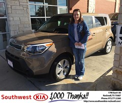 #HappyBirthday to Brandi from Kathy Parks at Southwest KIA Rockwall!