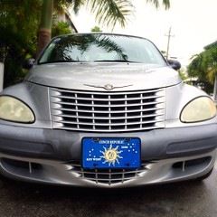 wheel(0.0), vehicle registration plate(0.0), automobile(1.0), automotive exterior(1.0), vehicle(1.0), chrysler pt cruiser(1.0), grille(1.0), chrysler(1.0), bumper(1.0), land vehicle(1.0),