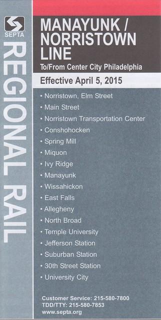 Manayunk - Norristown Line 2015