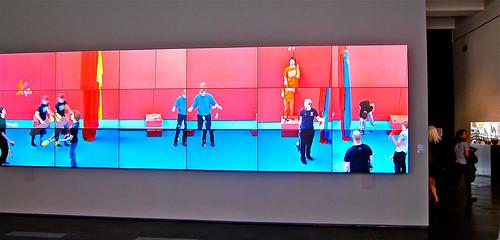 hockney juggllers in lobby