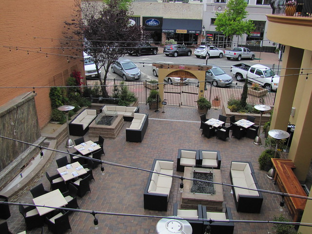Outdoor Tuscan Piazza at 201 Main