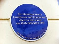 Photo of Hamilton Harty blue plaque
