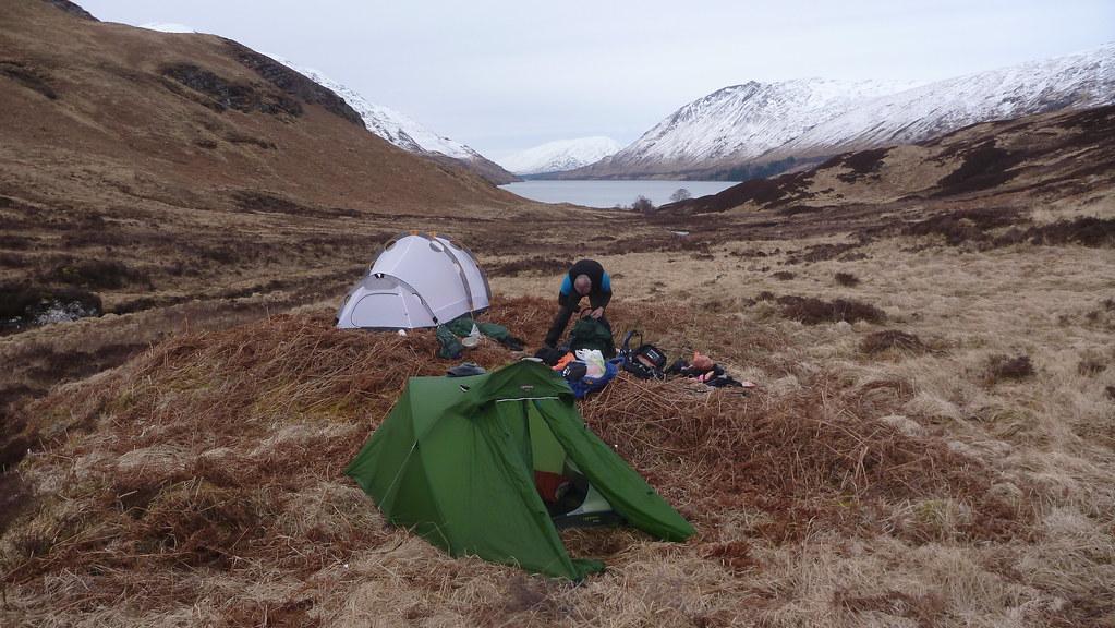 crianlarich, west highland line, corrour, leum uilleim, an diollaid, coir a bhric beag, gleann iolairean, loch treig, backpacking, wild camping