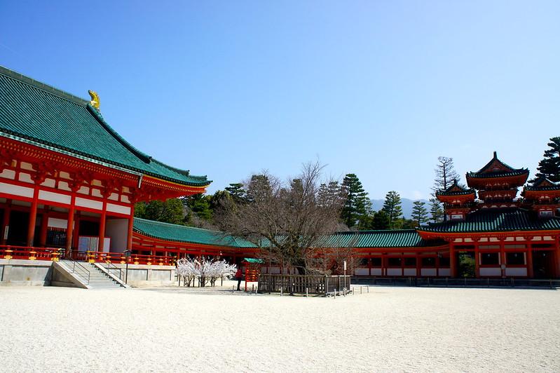 大極殿前の桜/平安神宮(Heian-jingu Shrine / Kyoto City) 2015/03/17