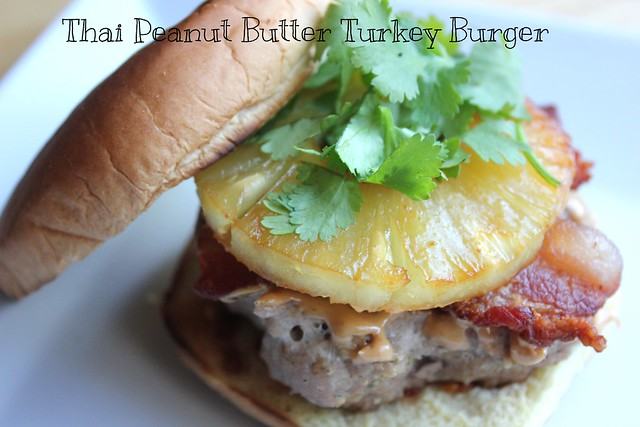Thai Peanut Butter Turkey Burger