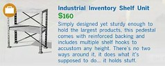 Industrial Inventory Shelf Unit