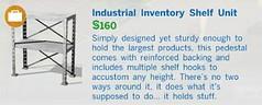 Industrial Inventory Shelf Unit