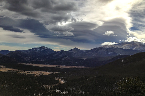 Lenticular Clouds at Rocky Mountain National Park October 2012