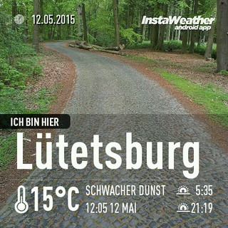 Gepflasterter Waldweg bei #Schloss #Lütetsburg. Den #Cache hab ich jetzt auch gefunden! Bestes #cachemojo! #geocaching #instaweather #instaweatherpro #weather #wx #android #lütetsburg #deutschland #day #spring #afternoon #de