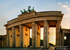Sunset through the Brandenburg Tor