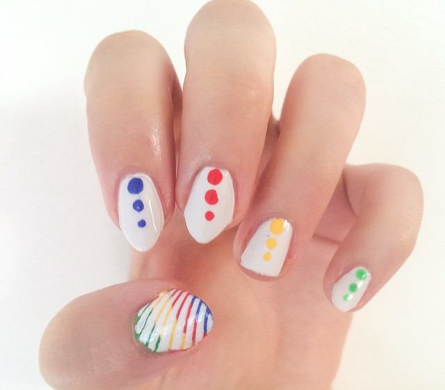Just a girl and her Olympic-themed manicure