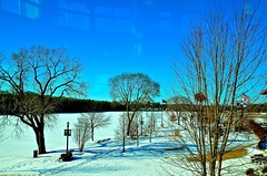 View of the Fox River From the Gail Borden Library Reading Room - Elgin IL