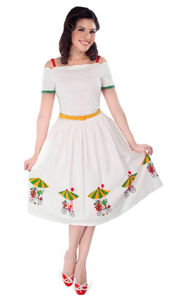 tatyana flower cart dress
