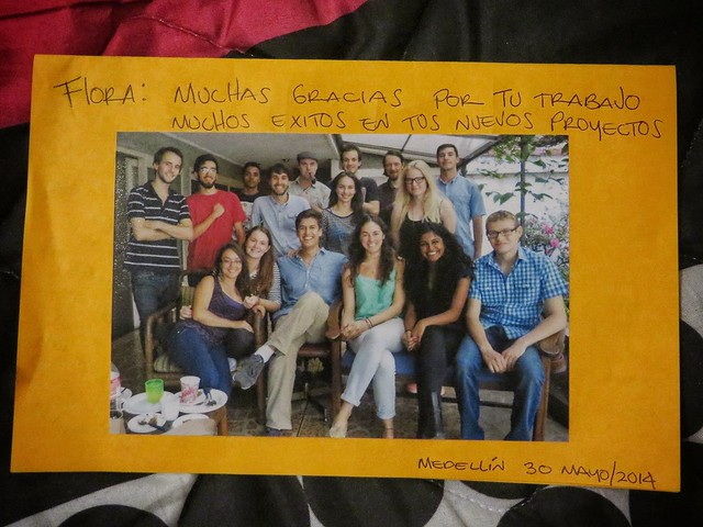 Goodbye card from Colombia Reports