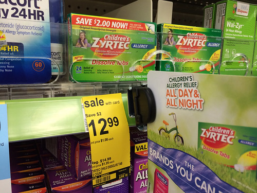 picture relating to Zyrtec Printable Coupon named $7.99 Childrens Zyrtec at Walgreens with Clean $5/1 coupon