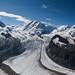 Blick vom Gornergrat auf den Gornergletscher, Wallis, Valais, Schweiz by sebastianknebel