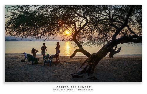 sunset beach landscape travels sony drinks subject 2014 timorleste landscapephotography beachphotography cristoreibeach nex6 sonynex6 jasonbruth timorlorasae 1670mmf4ossziess