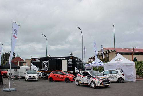 Toyota Breogan y EBC en zona promo asistencias Copa Kobe Motor Rallye Curtis