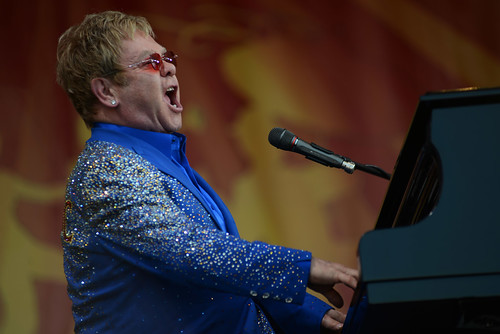 Elton John on Acura Stage. Photo by Leon Morris.