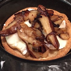 Brie and mushroom tarts with truffle oil!