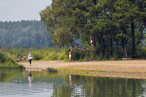 voyage nature lac été paysage plage filles femmes biélorussie bélarus