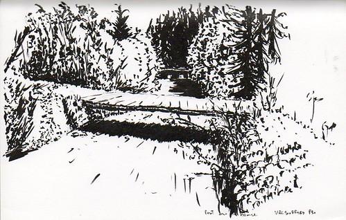 Valjouffrey, pont en bois sur la Bonne, superbe rivière (juste en dessous c'est un