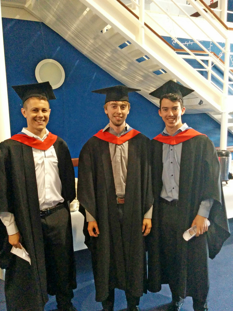 Engineering graduates Harrison Fisher Lewis Chatwin and Jack Shirt