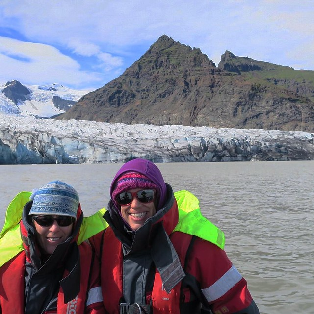 And then we took a boat ride through another glacial lagoon! # #Iceland