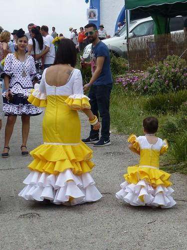 Romeria in Pruna: flamenco dressed family