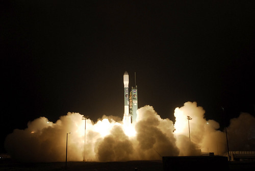 United Launch Alliance Delta II rocket with NASA's Soil Moisture Active Passive satellite (SMAP). Photo by NASA's Kim Shiflett.