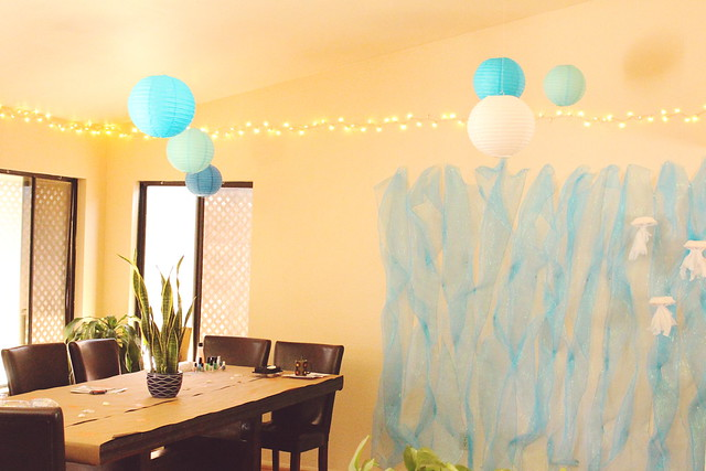 kids' aquarium themed party